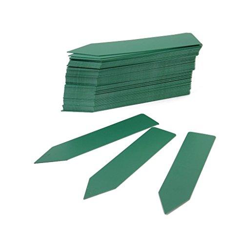 Yeah67886 10 cm x 2 cm Pot de fleurs en plastique Baguettes de chambre d'enfant Piquet de jardin étiquettes (Vert)