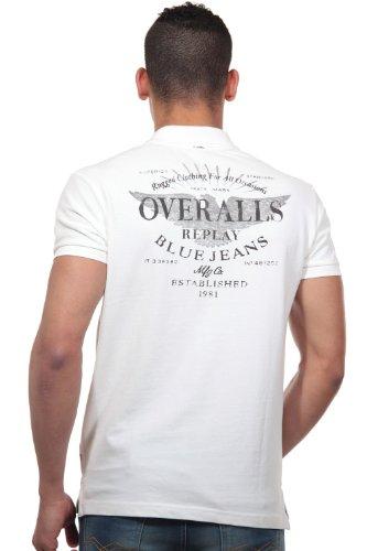 REPLAY Poloshirt regular fit Ecru