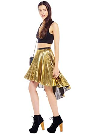 Glamorous GO GOLD PLEAT SKIRT Gold 8