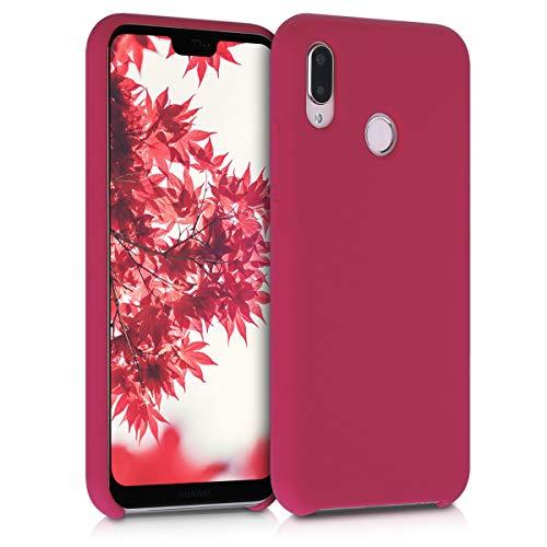 kwmobile Huawei P20 Lite Cover - Custodia per Huawei P20 Lite in Silicone TPU - Back Case Cellulare Fucsia Matt