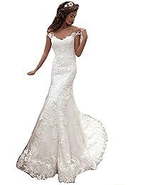 5e88012374e7 HotGirls molto eleganti abiti da sposa vintage sirena scollato vestito da  sposa