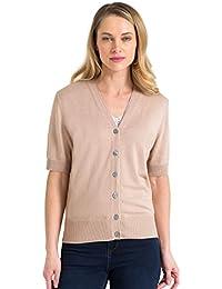fdab4cce6b09 WoolOvers Kurzärmliger Cardigan aus Baumwolle-Seide für Damen