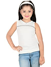 Bluntly Girls White Western Top