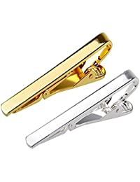 Sorella'z Golden and Silver Tie Pin for Men - Pack of 2