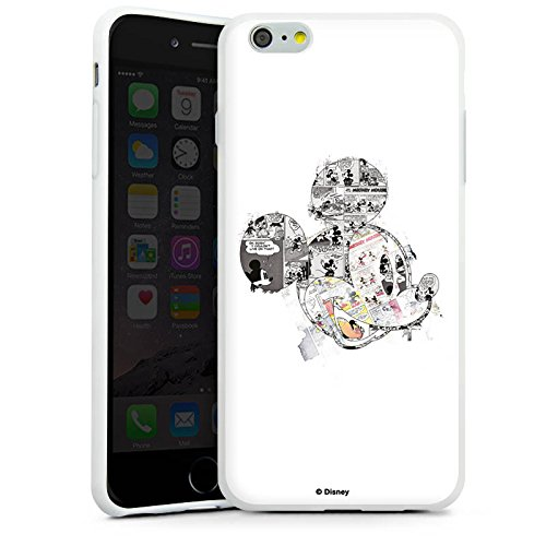 Apple iPhone SE Hülle Case Handyhülle Disney Mickey Mouse Merchandise Geschenke Silikon Case weiß