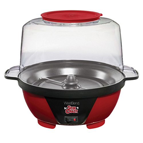 West Bend 82505 Stir Crazy Popcorn Popper, 6-Quart by West Bend