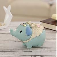Preisvergleich für Geldbank Wunsch Elefant Harz Sparschwein Simulation Tierspielzeug Einrichtung (blau)