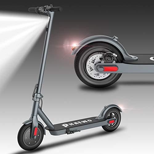 Elektro Scooter Erwachsene,LCD-Display,30 km-Langstreckenbatterie,8,5-Zoll-Kick-Reifen, 3-Gang-Höchstgeschwindigkeit 25 km/h,Vorder-und Rücklicht,Ultralight E-Roller für Erwachsene und Jugendliche