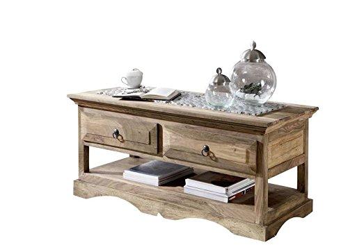 Table basse 110x50cm - Bois massif de palissandre huilé - Style Colonial/Ethnique - LEEDS #44