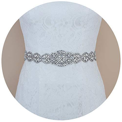 TOPQUEEN Strass des femmes ceinture ceintures ceintures Bridal Sash de mariage pour mariage (schwarz)