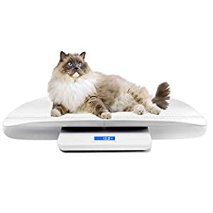 Multi-Function Digital Pet Scale to Measure Dog and Cat Weight Accurately, Precision at 10g, Blue backlight, especially good for Monitor Pregnant and Baby Pets