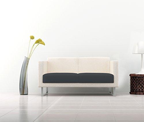 Italian bed linen 8058575005496 copriseduta per divano tessuto bielastico a struttura liscia, grigio, poliestere, matrimoniale, 110 x 50 x 1 cm