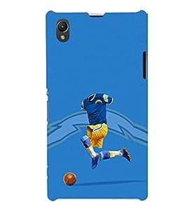 EPICCASE Flashy footballplayer Mobile Back Case Cover For Sony Xperia Z1 (Designer Case)