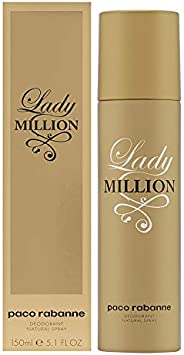 Paco Rabanne Lady Million Deodorant Spray, 5 Fl Oz