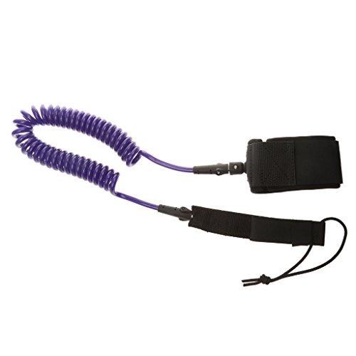 10ft Spiralleine Fußschlaufe Paddelboard Leash Seil für Paddle - Lila