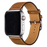 XCool pour Bracelet iWatch 44mm 42mm, Cuir Marron Single Tour Bande de Remplacement...