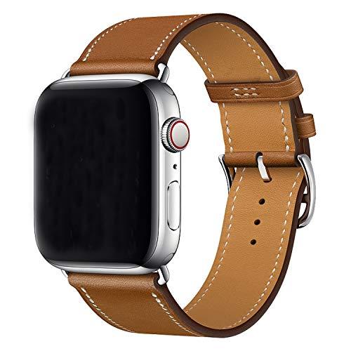 XCool für Apple Watch Armband 38mm 40mm, Leder Braun Armbänder für iwatch Series 4 Series 3 Series 2 Series 1 Hermes -