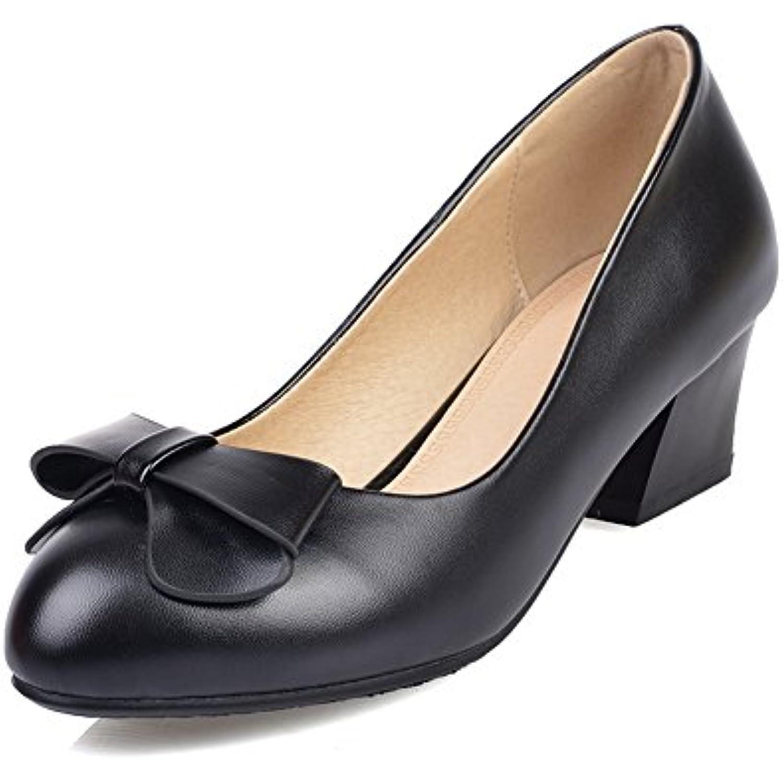 AdeeSu Femme Simple EU, Polyur eacute;thane Pompes Chaussures Noir, 35 EU, Simple SDC00116 - B01DXZJW6G - ac5da9
