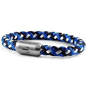 Fischers Fritze Armband Segeltau Makrele blau Gemustert – Handgemacht im Geschenkkarton I Maritim & Wasserfest