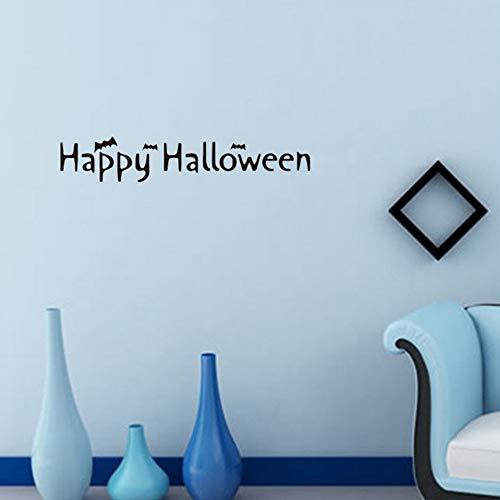 Yzybz Halloween Brief Tapeten Happy Halloween Hintergrund Wandaufkleber Fenster Home Decoration Aufkleber Dekor
