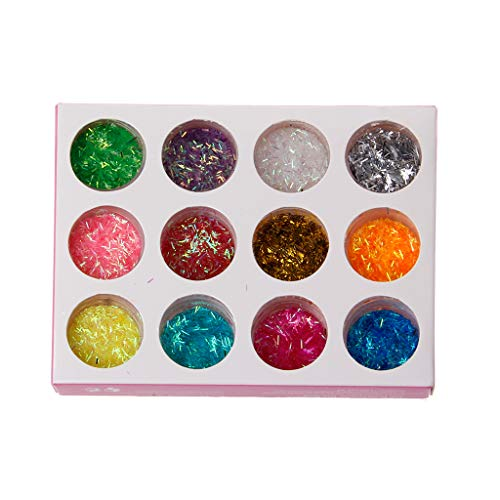 Lamdoo Glitter Glitzer Puder Herz Star Pailletten Nail Art Epoxidharz, Jewelry Füllung für...