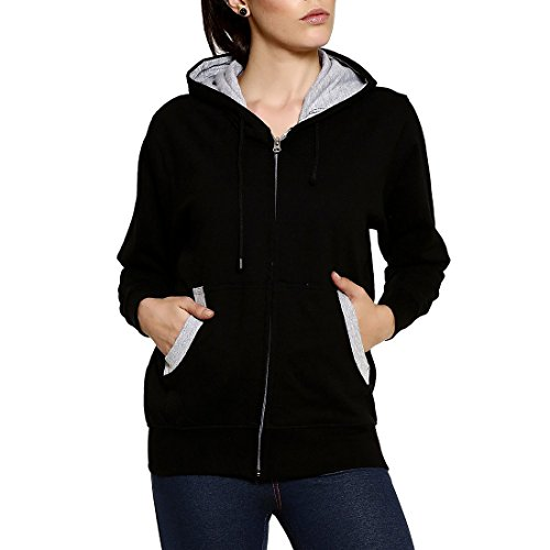 GOODTRY Women's Cotton Hoodies-BlackGTWH-029-BLK-L