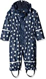Playshoes Baby-Jungen Regenjacke Rainoverall, Rainsuit Stars with Fleece Lining, Blau (Navy 11), 86