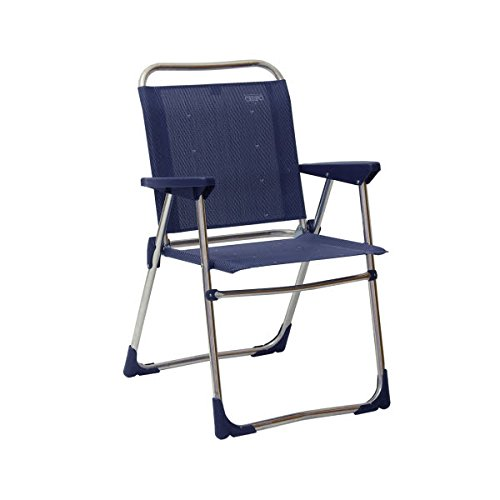 STABIELO-léger - 2,28 kg chaise pliante en aluminium-couleur : bleu/gris - 110 kg-charge maximale pour la commercialisation des produits sTABIELO hOLLY ® innovation hOLLY-fabriqué en allemagne-sunshade ®-moyennant supplément avec hOLLY fÄCHERSCHIRMEN -