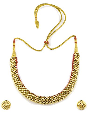 Womens Trendz Weny Thushi 24K Gold Plated Alloy Necklace and Earring Set  available at amazon for Rs.670