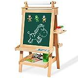 Staffeleien Kinder Zeichenbrett Heben Einstellbare doppelseitige Magnetische Kleine Tafel Malerei Graffiti Brett Halterung Typ, Buchenholz