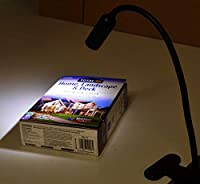 Easy Home Orange Swan Neck Flexible Daylight LED Spot Clamp Clip Lamp Mains Powered by Aldi