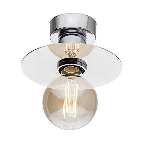 ARGON - Moderna lámpara de techo de 1 llama, de acero cromado ...