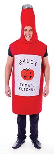 Erwachsene Kostüme Für Tomaten (Tomaten Ketchup Unisex Kostüm,)
