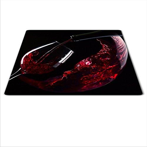 Universal Junta para proteger: de Cristal de estufa, cerámica, inducción y Gas, cada Junta ha 4silicona pies que proteger contra arañazos, Deep Color saturación gracias a los gráficos HD, dimensiones: 60x 52cm, tema: vino, color: rojo