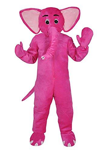 Elefant pink Einheitsgrösse XXXL - XXXXL Supersize Kostüm Fasching Karneval Maskottchen für Personen bis 2,0 Meter Grösse