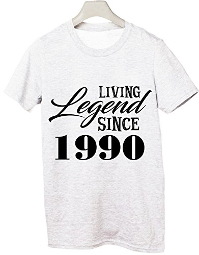 Tshirt Living legend since 1990 - idea regalo compleanno - happy birthday - Tutte le taglie by tshirteria Bianco