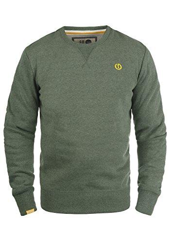 !Solid Benn O-Neck Herren Sweatshirt Pullover Pulli Mit Rundhalsausschnitt, Größe:M, Farbe:Climb Ivy Melange (8785)