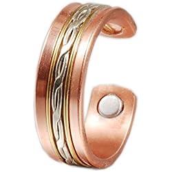 (cpr-0934) Wollet joyería anillo de cobre magnético para la artritis para hombres mujeres