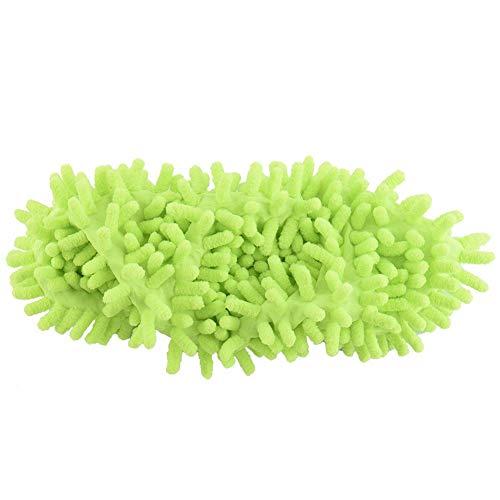 Ritapreaty Mop Hausschuhe , Mop Schuhe, Mikrofaser Staub Mop Schuhe Hausschuhe Reinigung für Zuhause 1 Paar - Größe Kind Spazierstock,