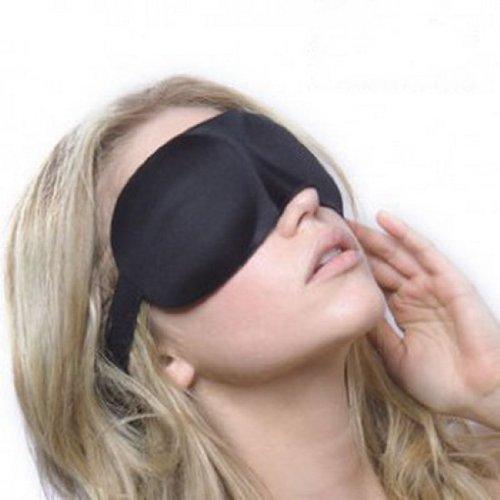 Polyester Auge (Beste Qualität Weich Bequem 100% Polyester Schlafen / Schlaf / Augen Maske / Binde In Schwarz Mit Stretch Band / Riemen Von VAGA®)
