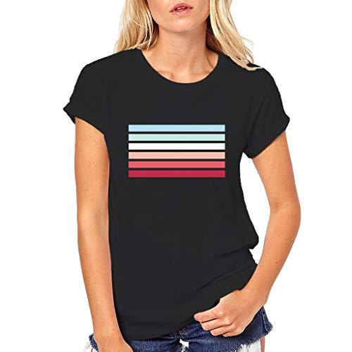 Courtes D'été Print Tops Shirt FemmeDes T Vrac À Chemisier Ihengh Manches Femmes En P0k8wnO