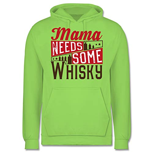 Statement Shirts - Mama Needs Some Whisky - M - Limonengrün - JH001 - Herren Hoodie