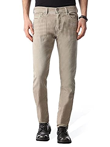 Diesel Tepphar 0850Y_Stretch Jeans pour hommes Pantalons Slim Carrot (W34, Beige)
