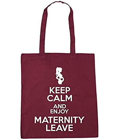 HippoWarehouse Keep Calm and Enjoy Maternity Leave Tote Shopping Gym