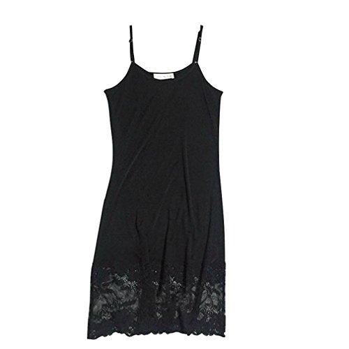 ADOO Lingerie - Damen Unterkleid - Haut Schwarz Weiß - M L XL