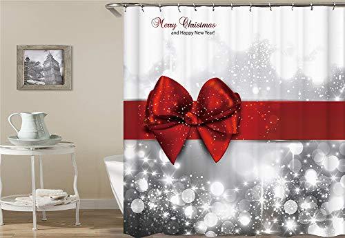 ionen. Fröhliche Weihnachten. Wasserdicht. Einfach Zu Säubern. Duschvorhang. 180X180Cm. ()