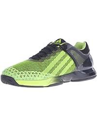 Adidas Performance barricada clásico zapato tenis, blanco / gris metalizado / plata, 10,5 M con nos