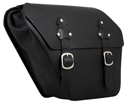Buffalo Bag Leder Satteltasche für links Harley Davidson Fat Street Bob Dyna Glide