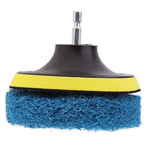 B Blesiya Bohrmaschine Bürste Bohrbürste Bohrmaschine Reinigung Pinsel für Teppich, Badezimmer, Holzboden - Blau