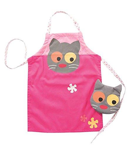 Delantal y guante motivo gato para niños